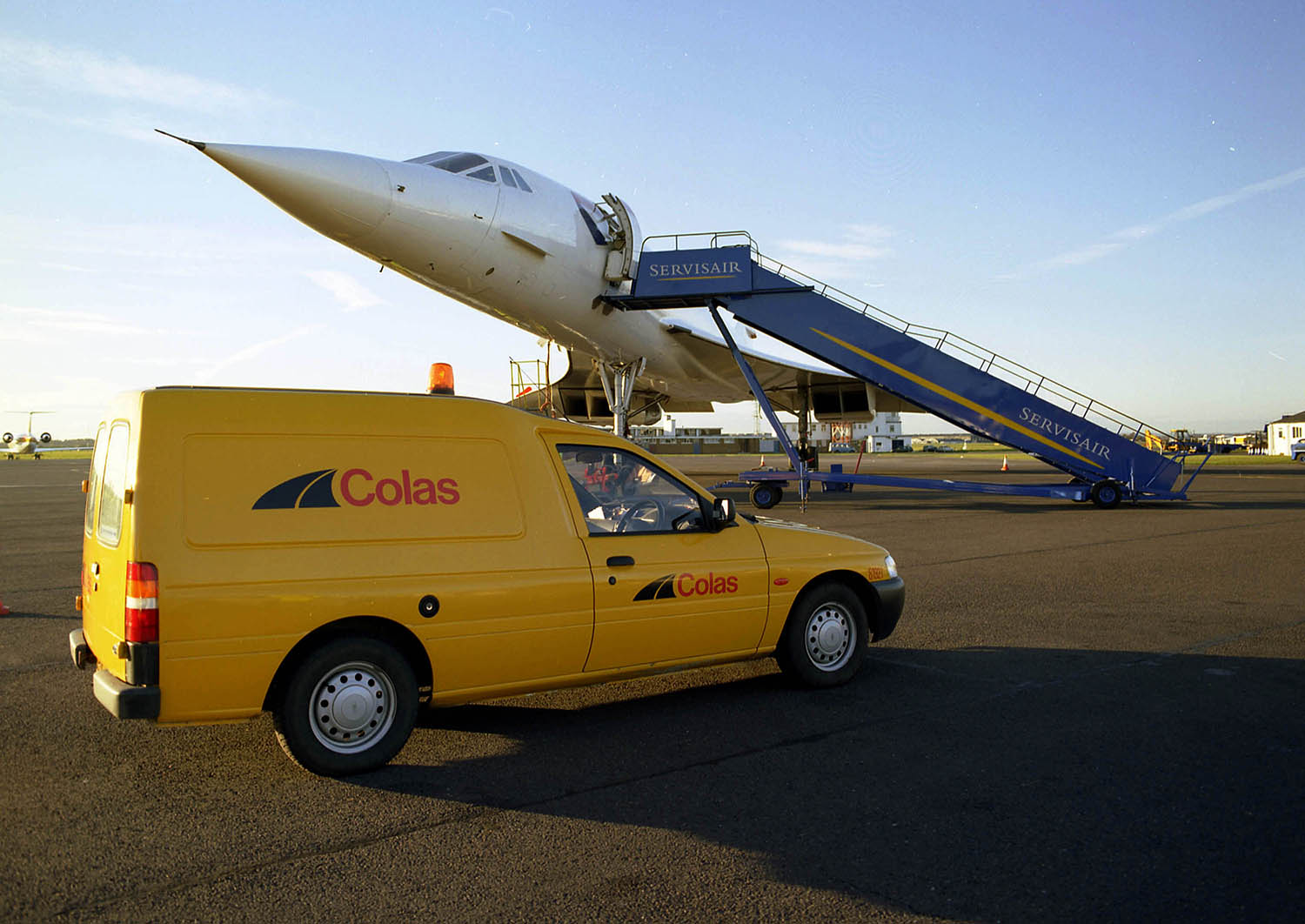 Colas at Bournemouth with Concorde